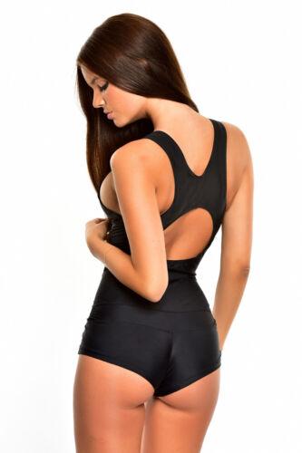 Z1732-1098-sw Femmes maillot de bain bain nageur Combishort noir neuf T 40