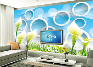 3D Calla Lily Pattern 226 Paper Wall Print Wall Decal Wall Deco Indoor Murals