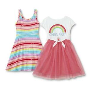 P-S-from-Aeropostale-Girls-Pink-2pc-Dress-Size-2T-3T-4T-4-5-6-6X-7-8-10-12-14