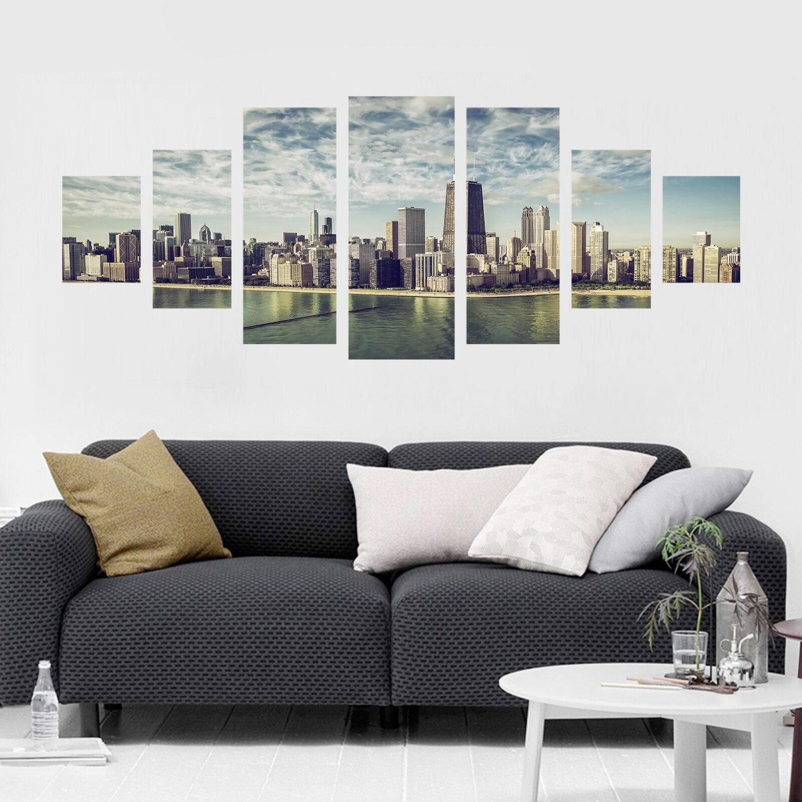 3D City River 58 Unframed Print Wall Paper Decal Wall Deco Indoor AJ Wall