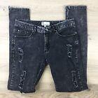 Bettina Liano Skinny Leg Zip Distressed Women's Jeans Size 12 W28 L31 (W6)