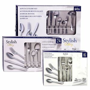 16-24-or-40-Piece-Stylish-Kitchen-Stainless-Steel-Cutlery-Set-Tableware-Dining