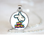 My Dick PENDANT NECKLACE Chain Glass Tibet Silver Jewellery