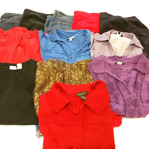Womens-Size-20-Plus-Clothes-Lot-11-Piece-Mixed-Pants-Blouses-Tops-Shorts-Jacket