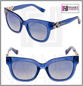 1db8dd93f3 Image is loading JIMMY-CHOO-MAGGIE-Transparent-Blue-Rose-Gold-Mirrored-