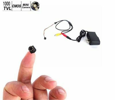 Power smallest HD 1000TVL CCTV wired mini lens cam home security hidden Camera