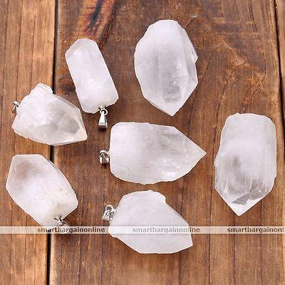 Natural Rock Crystal Healing Point Chakra Irregular Pendant For Necklace