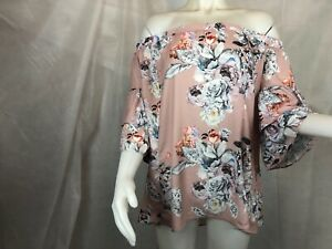 City-Chic-Off-Shoulder-Pretty-Floral-Top-Women-039-s-Plus-Size-18-New-with-Tags