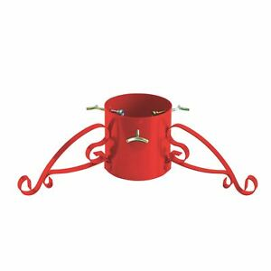 4 Dia Trunk Traditional Metal Real Christmas Tree Stand for 7ft Trees Wrought Iron RED