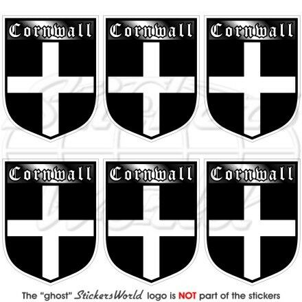 CORNWALL Cornish County Britain Shield Mobile Cell Phone Mini Stickers-Decals x6