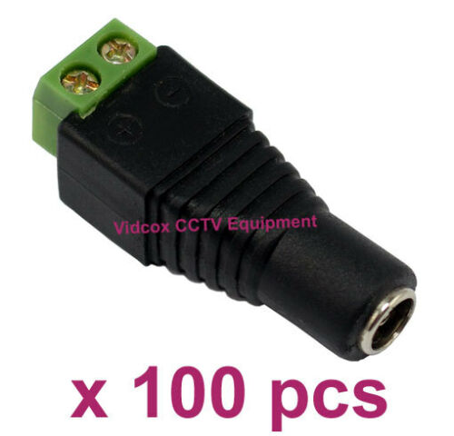 100X 5.5 x 2.1mm 12V //24V DC Female Power Connector Adapter Jack for CCTV Camera