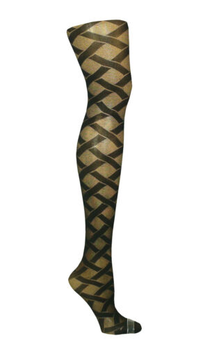 NEW WOMEN BLACK PATTERNED TIGHTS PLUS SIZE XXL 20-24 R19