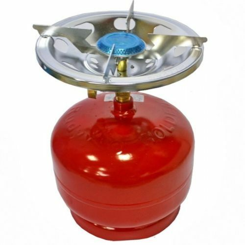 Conjunto de gas de cocina al aire libre Portátil Camping Estufa Quemador de Globo Bolso 5 L 270 OZ