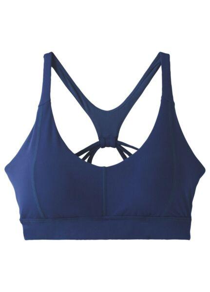 Prana Momento Bra   blue anchor  Damentop  Sporttop  Yoga