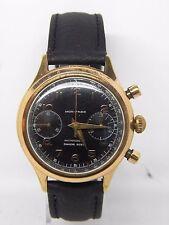 chronographe  boite plaqué or mouvement landeron 248  ,vintage chrono