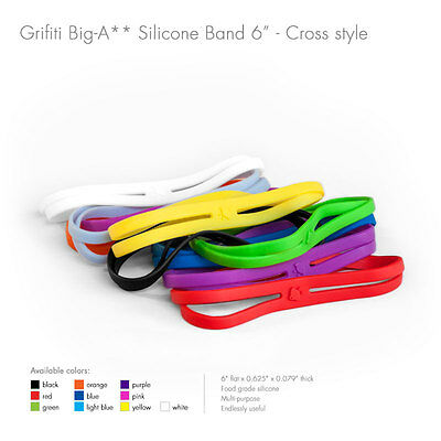 """Grifiti Band Joes X Cross Style 4/"""" 5 Pack Silicone Replace Rubber Elastic"""