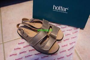 Hotter-Ladies-EASY-COMFORT-CONCEPT-Nickel-Metallic-Open-Toe-Adjustable-Sandals-4