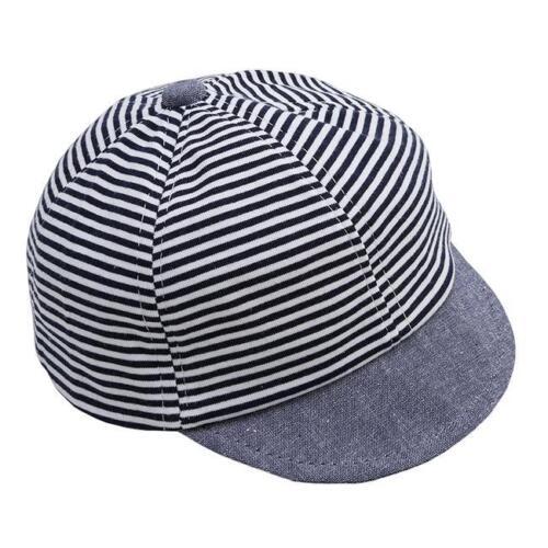 Fashion Baby Boy Hat Striped Soft Cotton Sunhat Eaves Baseball Cap Sun Hat KV