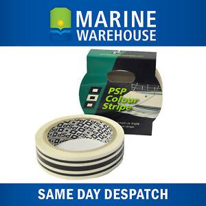 Black-Triple-Pinstripe-Vinyl-Decorative-Boat-Tape-PSP-Marine-19mm-X-10M-1965TB