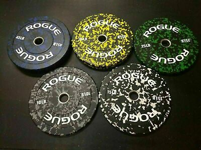 NEW Rogue Fitness Fleck Plates 10lb Pair ✅SHIPS NEXT DAY✅ Black//Grey Bumper