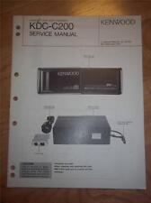 Kenwood Service Manual~KDC-C200 CD Changer/Player~Car Audio~Original Repair