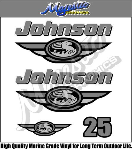DECAL KIT JOHNSON 25hp OUTBOARD DECALS