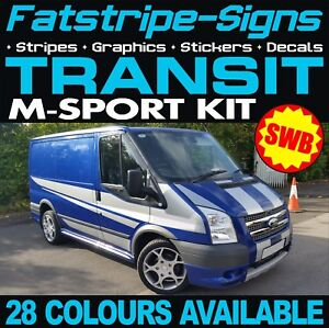 Ford transit sport swb graphics stickers decals stripes m sport mk6 image is loading ford transit sport swb graphics stickers decals stripes publicscrutiny Image collections