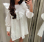 ZARA-NEW-WHITE-MINI-DRESS-CUTWORK-EMBROIDERY-FLORAL-RUFFLES-FLOWING-SIZE-XS-XXL thumbnail 1