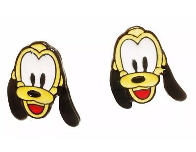 Disney/'s TSUM TSUM Inspired Winnie The Pooh Pluto Dog Character Metal Enamel Stud Earrings Great Gift