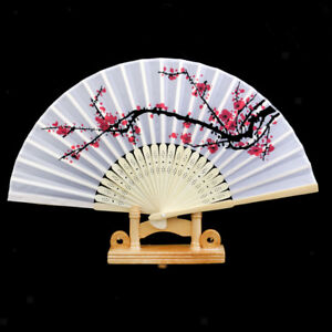 Wedding-Chinese-Party-Wood-Wooden-Plum-Folding-Hand-Summer-Fan-Decor-Gift