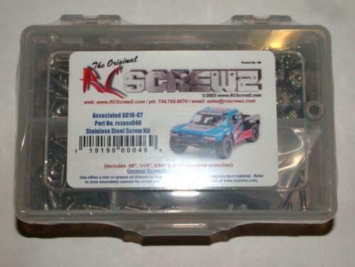 ASSOCIATED SC10-GT RC SCREWZ SCREW SET STAINLESS STEEL ASS046