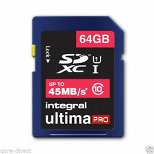 INTEGRAL 64GB ULTIMA PRO SDHC 45MB/S CLASS 10 MEMORY CARD FAST SPEED SD CARD