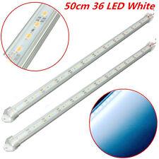 2pcs 12V 50cm Car Clear White LED 5630 SMD Interior Strip Light Bar Van Caravan