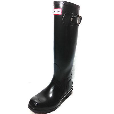 Hunter Original W23499 Tall Rain Boots Black Size 4 male/ 5 Fem. Usa. UK.3
