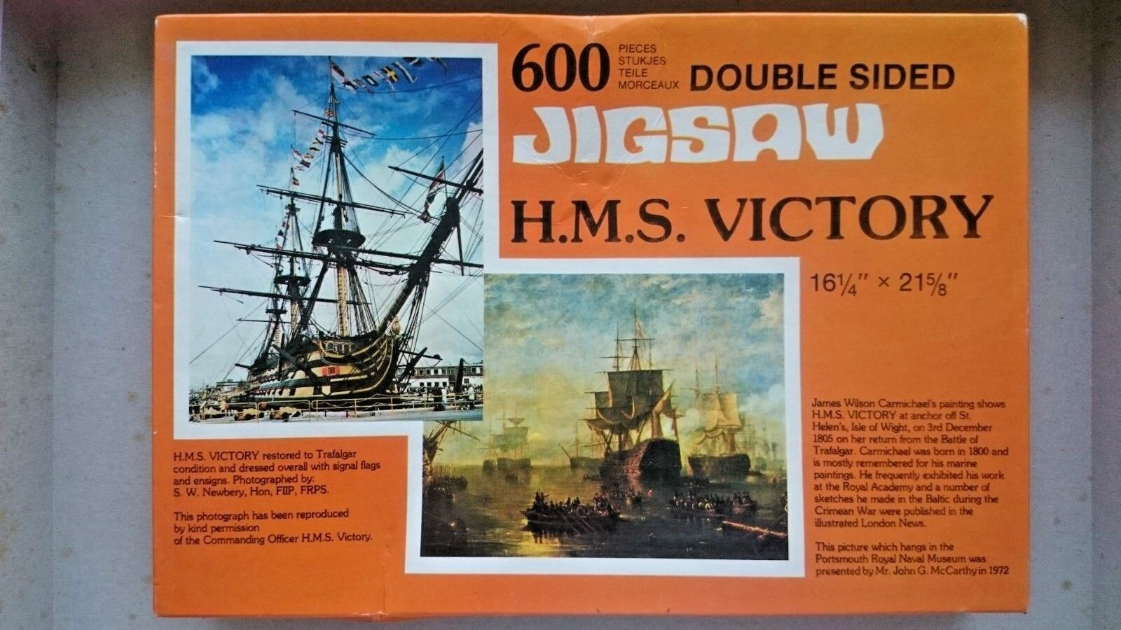 HMS Victory Double Sided 600 Piece Jigsaw By Gibsons (NEW - Pieces Still SEALED)
