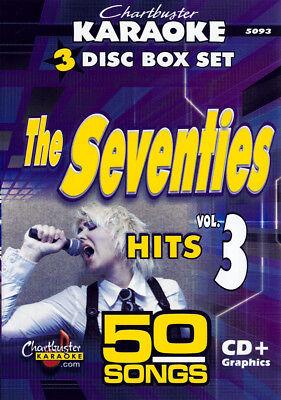 Chartbuster Karaoke 5093 The Seventies Top 50 Songs On 3 Cdg's New! Karaoke Cdgs, Dvds & Media 3 Day Ship