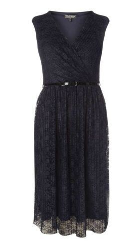 DOROTHY  PERKINS BILLIE /& BLOSSOM  NAVY LACE MIDI DRESS  8-10-12-14-16-18-20