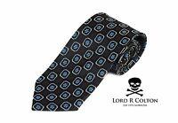 Lord R Colton Basics Tie - Black Gray & Ice Blue Woven Necktie - $59 Retail on sale
