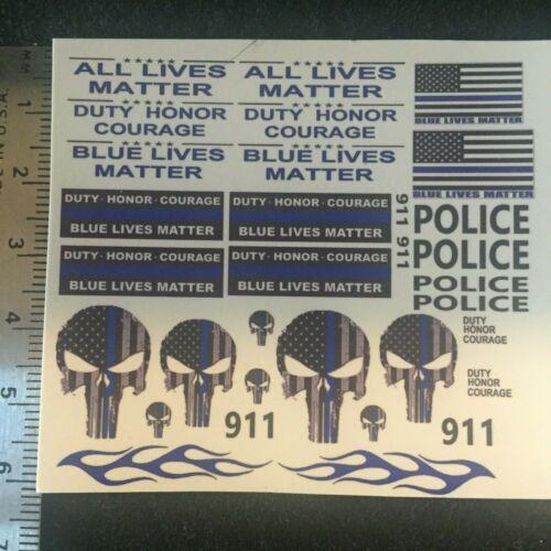 Clear 1:64 Water Slide Decal Hot Wheels Blue Lives Matter 67 Camaro