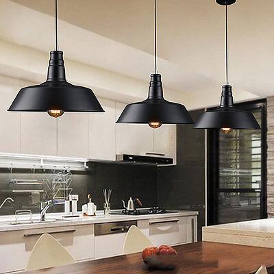 Iron Vintage Ceiling Light Modern Chandelier Pendant Kitchen Bar Fixture Lamp