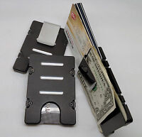 Standard Wallet/credit Card Holder, Aluminum Rfid Protection, Black Anodized