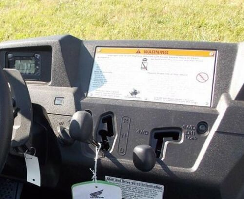 Honda Pioneer 700 six switch w// 2 accessory holes and space for RAM Mount
