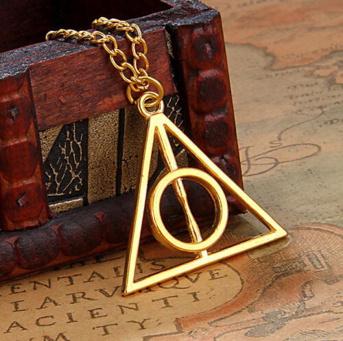 Collar plata o bronce triángulo Floray Harry Potter y Las Reliquias De La Muerte