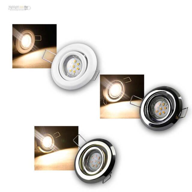Einbauleuchten Komplett-Set, LED Einbaustrahler, 3 Designs, Spots Strahler 230V