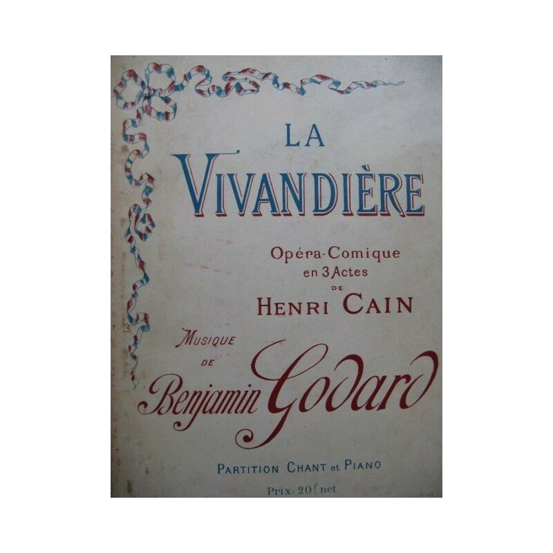 Godard Benjamin Die Marketenderin opéra Piano chant 1926 Partitur Sheet Music