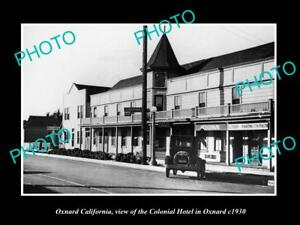 OLD-LARGE-HISTORIC-PHOTO-OF-OXNARD-CALIFORNIA-VIEW-OF-THE-COLONIAL-HOTEL-c1930
