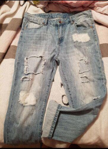 ripped boyfriend jeans size 28