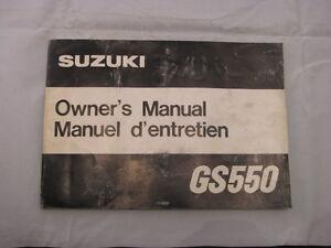 SUZUKI-GS550-GS550E-1979-OWNERS-MANUAL-MANUEL-DU-PROPRIETAIRE