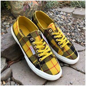 8685428a2b9b Image is loading Superga-Fantasia-Tartan-Print-Sneaker-Size-8-5-