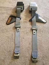 Gray Rear 3 point Harness Seat Belt Set 1982-1992 3rd Gen Camaro Firebird